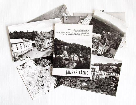 Vintage 11 Postcards Pictured Black and White Janske Lazne