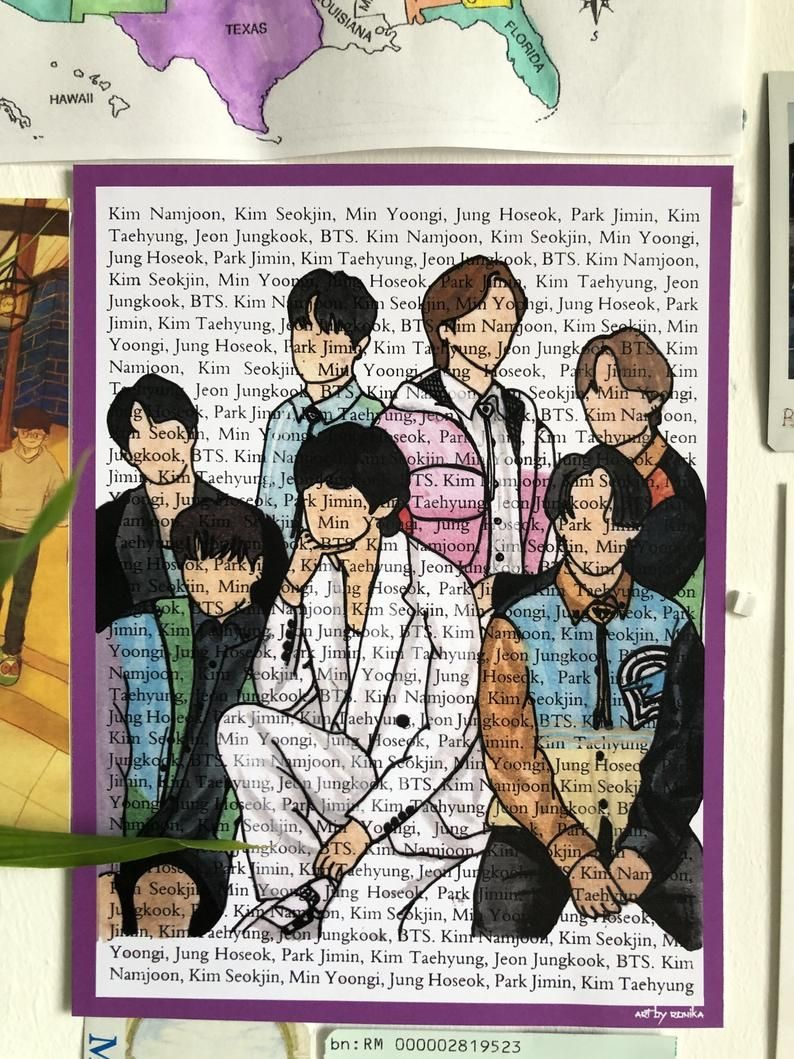 BTS OT20 A20 art prints kpop bts army gift decor   Etsy in 20 ...