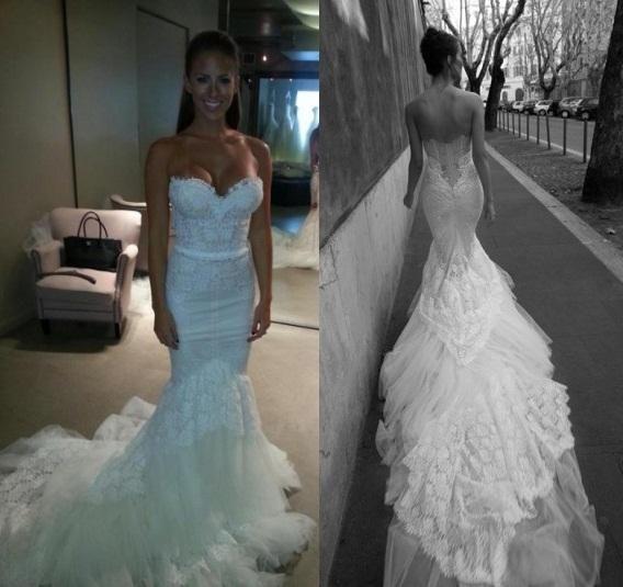 Inbal dror 2016 fall winter white lace mermaid wedding for Winter mermaid wedding dresses
