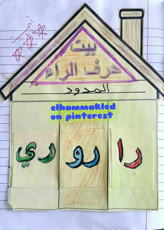 بيت حرف الراء المدود Alphabet Activities Arabic Alphabet School Crafts