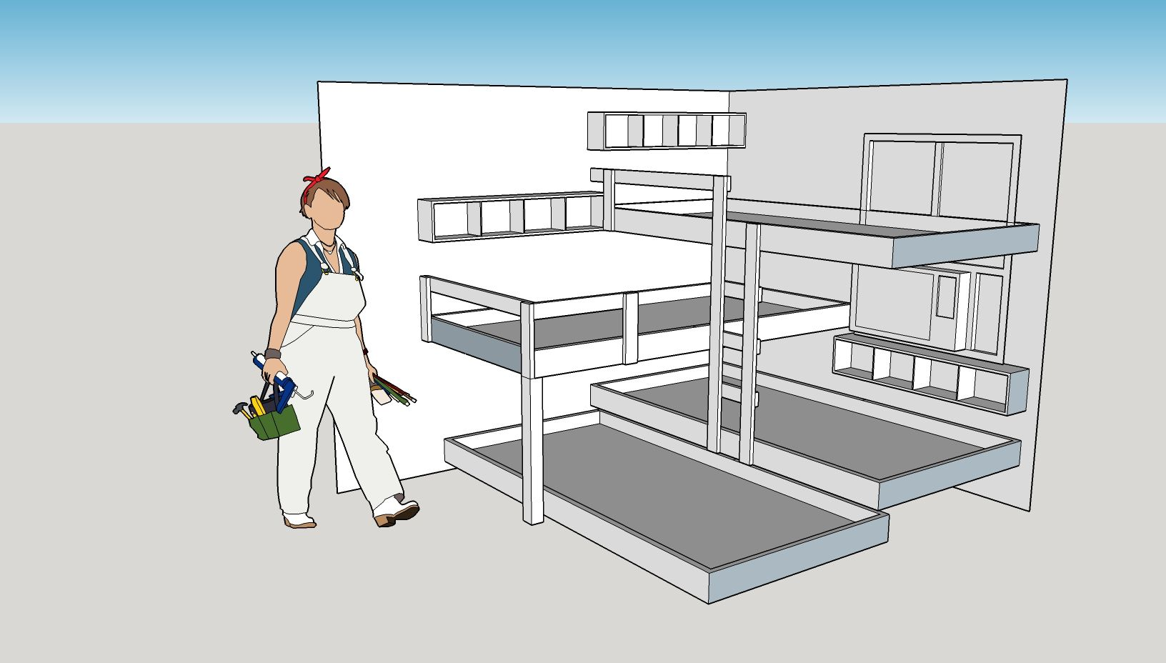 Quad bunk bed ideas.... thoughts guys? Diy bunk bed