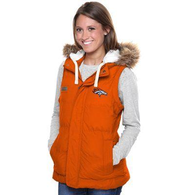 designer fashion d0897 9e904 Pro Line Denver Broncos Womens Yukon Vale Full Zip Vest ...