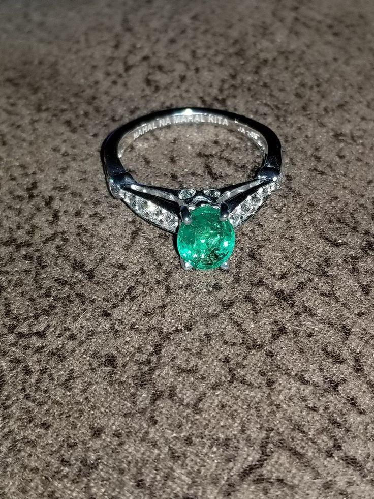 14k white gold embossed diamond engagement ring unique