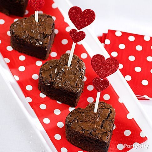 Cupids arrow hits the mark with these heart shaped brownie bites cupids arrow hits the mark with these heart shaped brownie bites bullseye altavistaventures Images