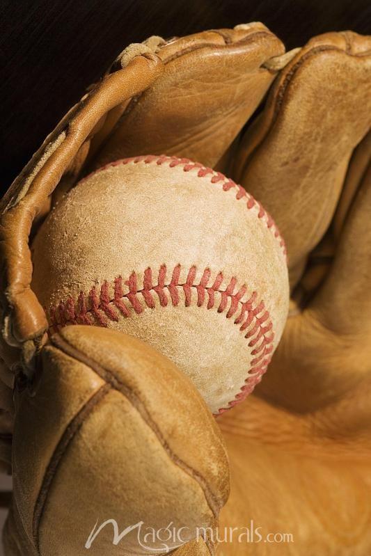 Baseball In Glove Wall Wallpaper Wall Murals Gloves