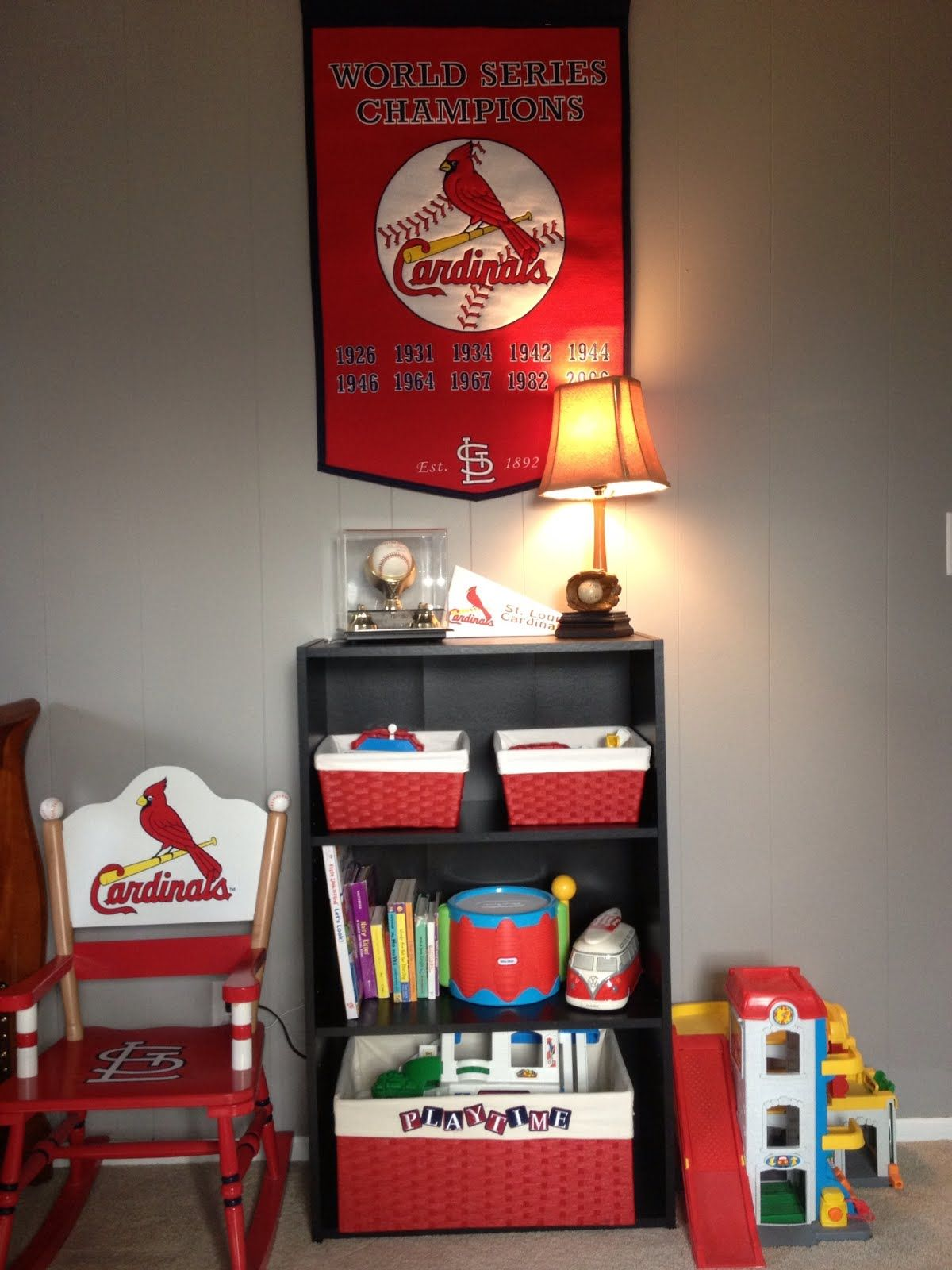 Cardinal Baseball Room Ideas