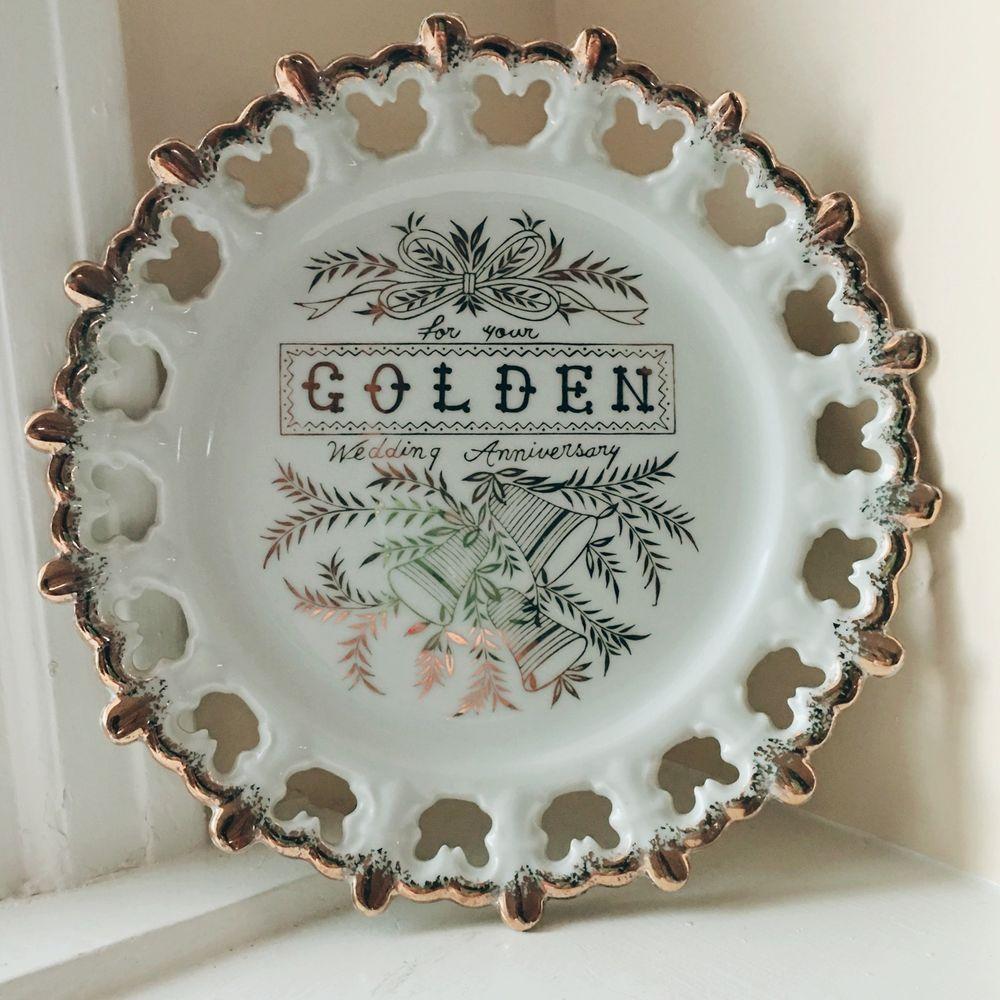 SALE Vintage Norcrest Golden 50th Wedding Anniversary