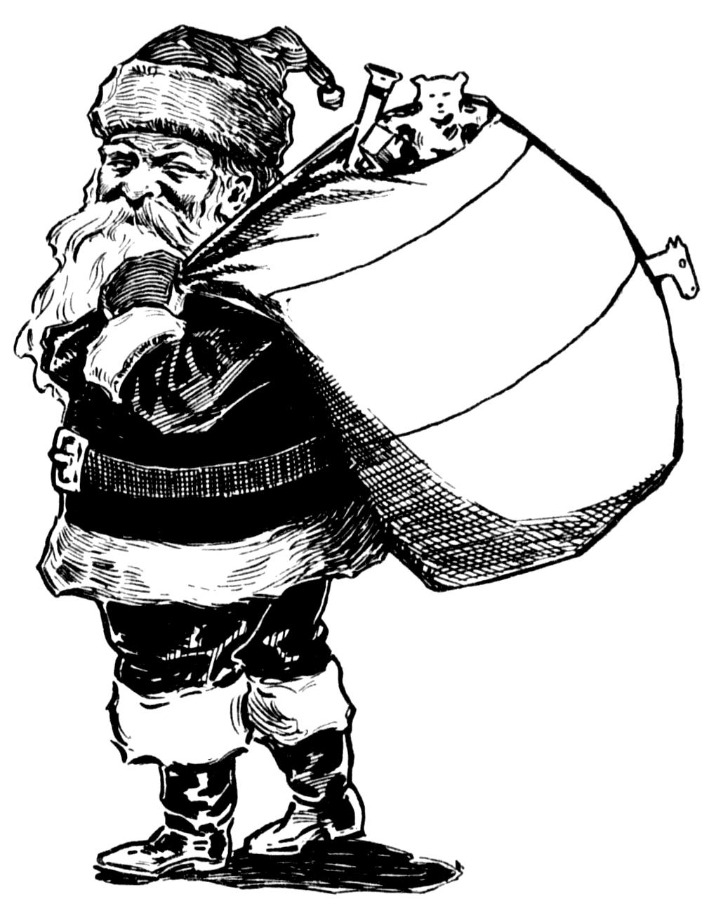 Vintage Snips And Clips Mischievous Santa Vintage Clip Art Public Domain