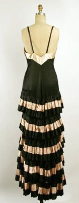 Callot Soeurs Evening Dress, back view, ca. 1930s, silk.