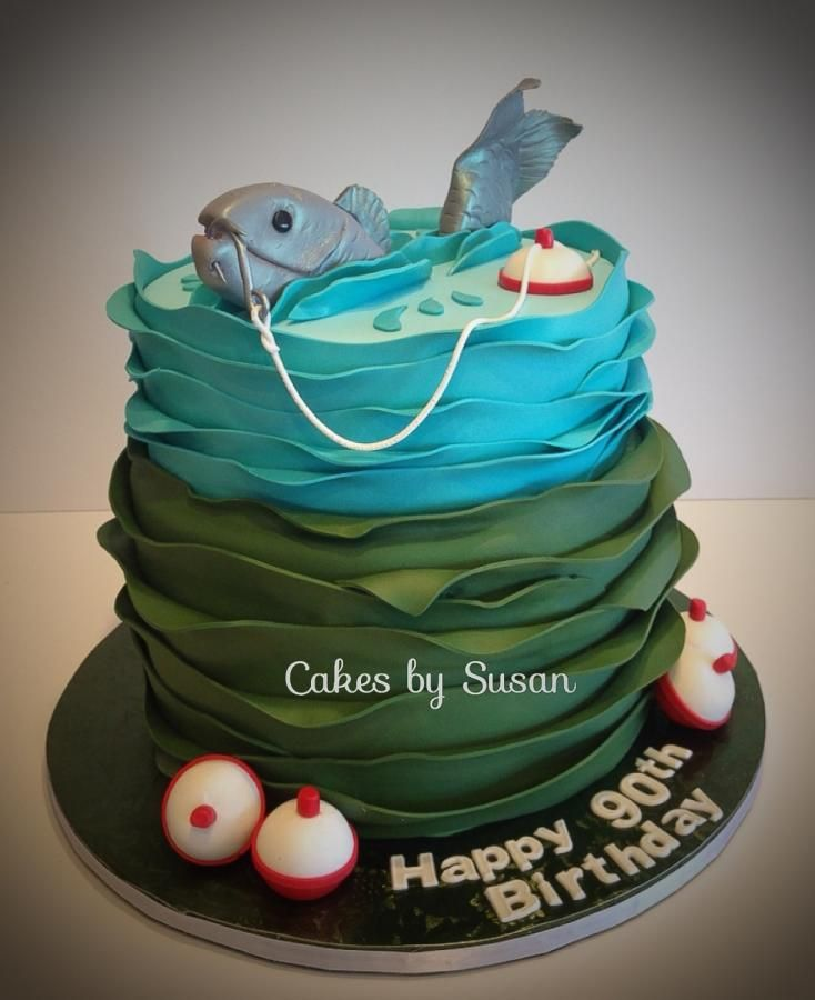 Gone fishing cakes novelty pinterest cake for Gone fishing cake