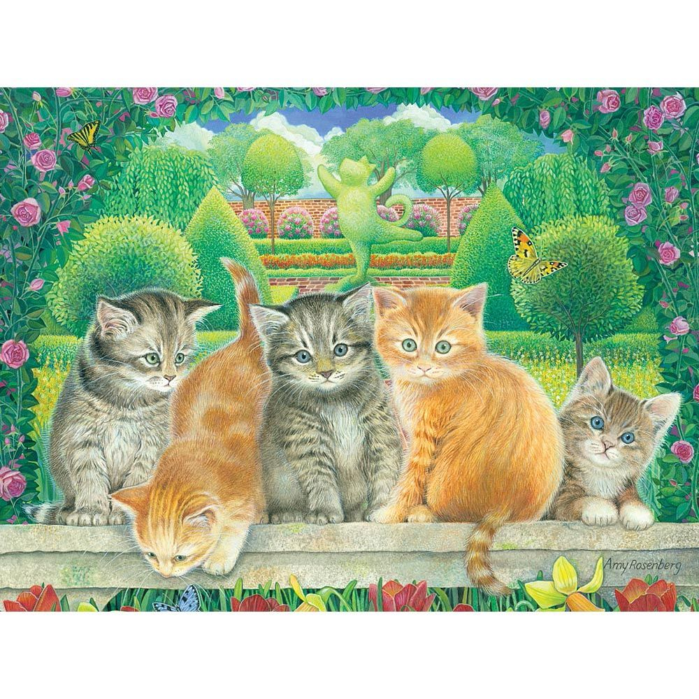 Topiary Kittens 300 Large Piece Jigsaw Puzzle Amy