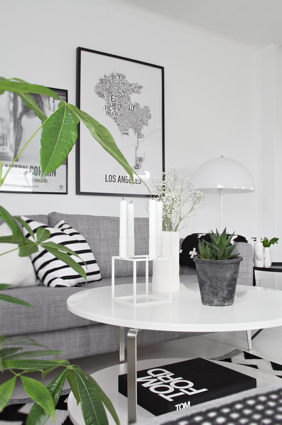 Contemporary White Apartment In Grey Black And White