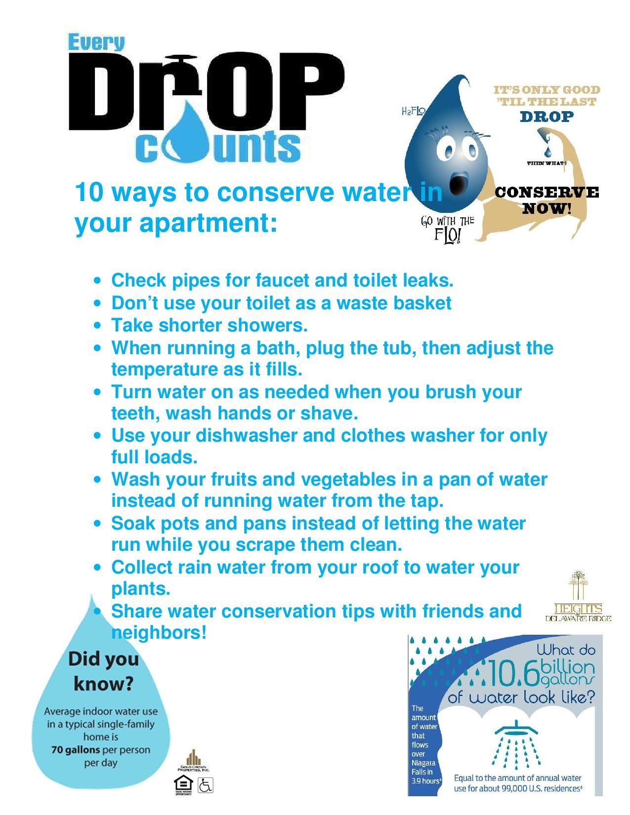 Conserve Water In Your Apartment