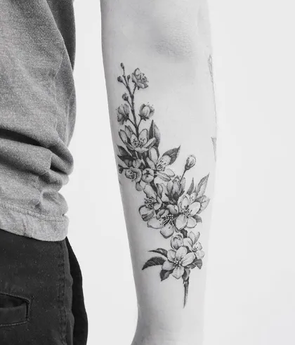 Cherry Blossom Tattoo Designs & Ideas to Try in 20