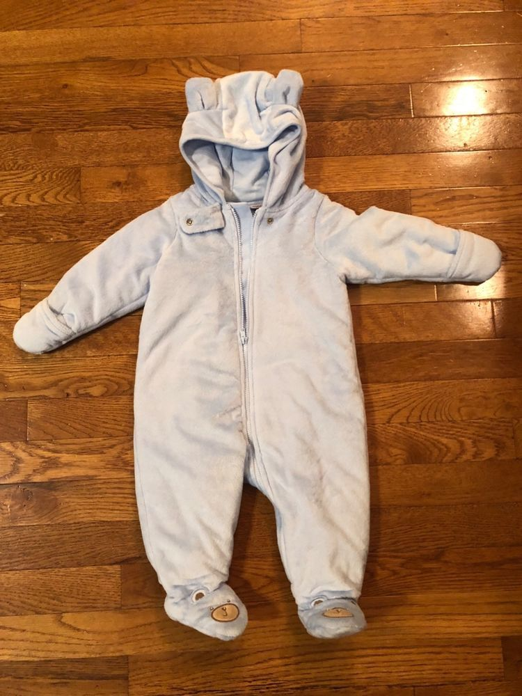 07cc642a8 New CUDDLE BEAR BABY Blue 9 Months SNOWSUIT BUNTING Coat  39 NWT ...