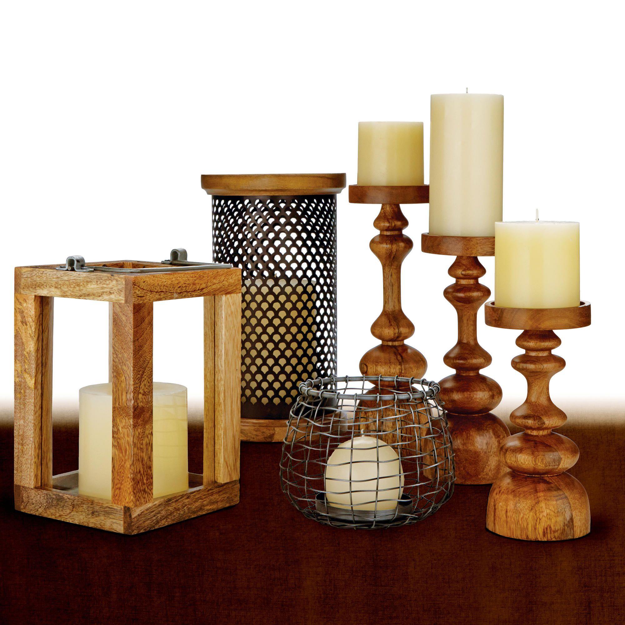 Recycled Wood Lantern Candleholder World Market