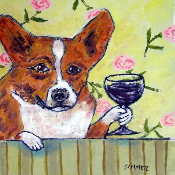 dachshund MARTINI picture gift dog art tile coaster pet