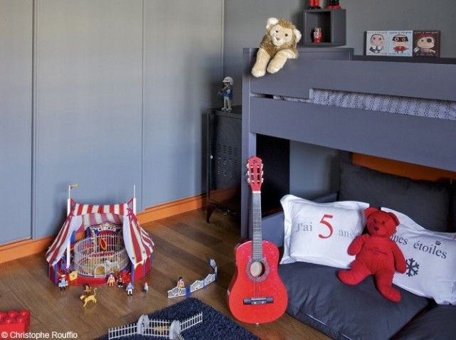 Chambres de gar on 40 super id es d co kids stuff - Decoration chambre garcon 9 ans ...