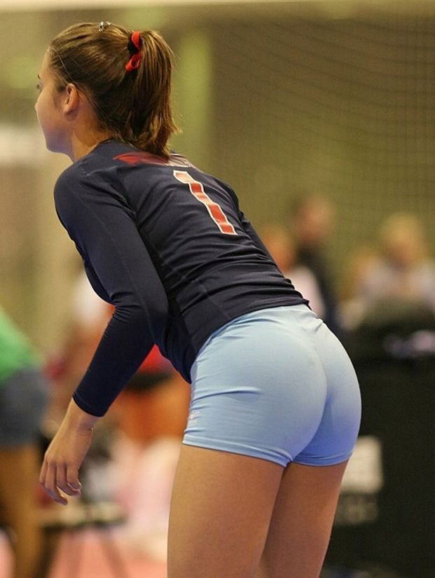 Sexiest volleyball girls in shorts