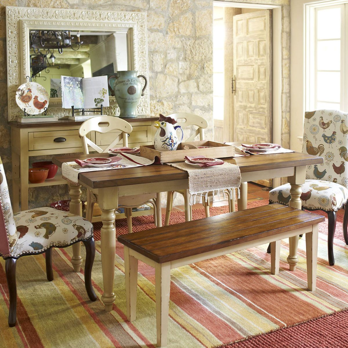 Delicieux Carmichael Antique Ivory Turned Leg Dining Table | Pier 1 Imports