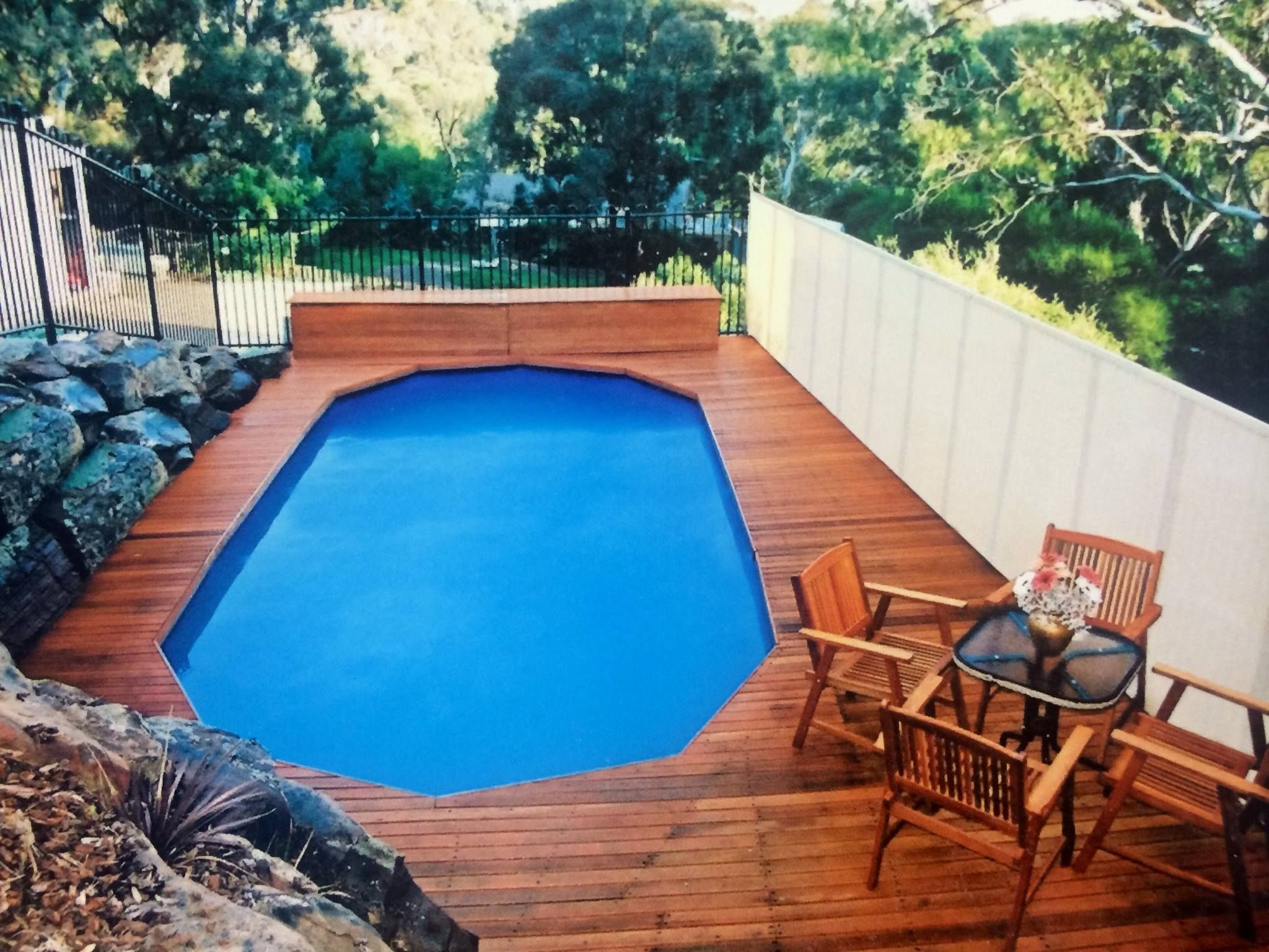 Above Ground Pool. Frame parts have been decked over, achieve an in ...