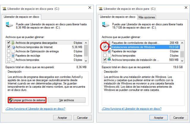 Borrar Windows Old En Windows 10 Windows 10 Windows Borrar