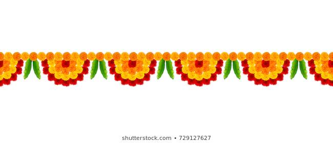 Flower Toran Images Stock Photos Vectors Shutterstock Flower Illustration Garland Decor Diwali Holiday