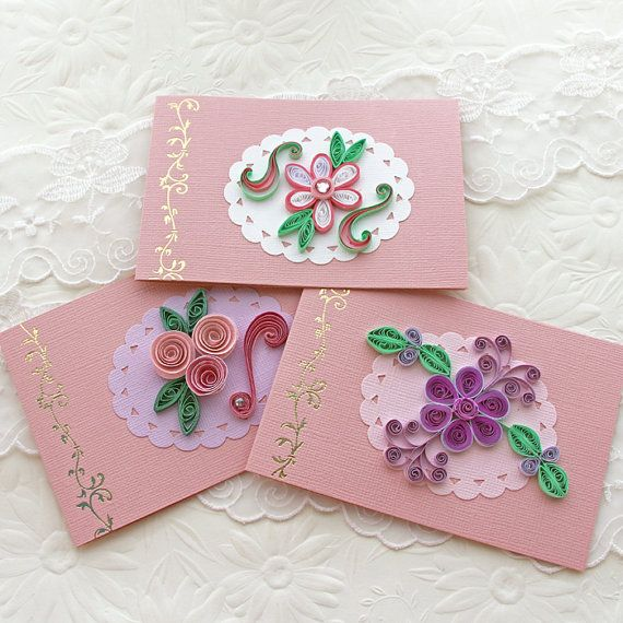 Quilling Gift Little Flowers Set Of 10