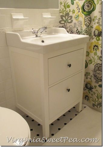 sweet sinks for bathroom. Bathroom Renovation Update  How to Install an Ikea Hemnes Sink Sweet Pea I cant decide whether go dark or light