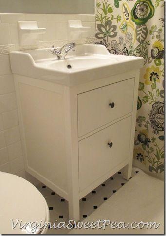 Bathroom Renovation Update :: How To Install An Ikea Hemnes Sink