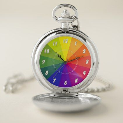 Color Wheel Vzs2 Pocket Watch Red Gifts Color Style Cyo Diy Personalize Unique Watches Pocket Watch Color Wheel