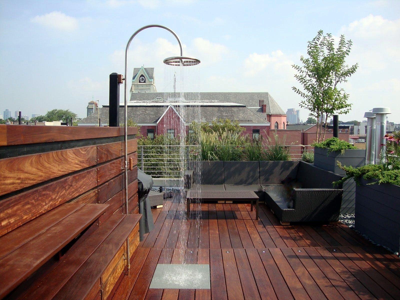 Ipe Rooftop Deck In Nyc Roof Terrace Design Terrace Design Rooftop Design