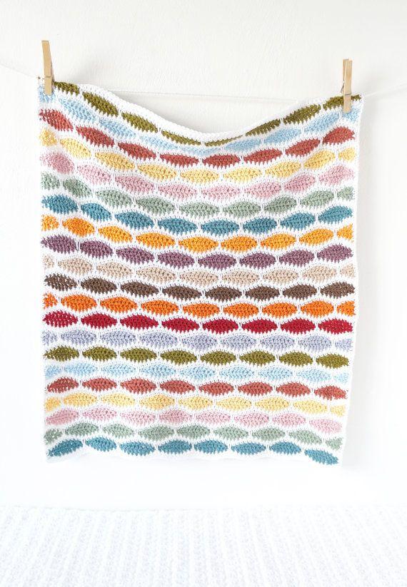 Baby Blanket Crochet Pattern Bertie PDF Instant by LittleDoolally ...