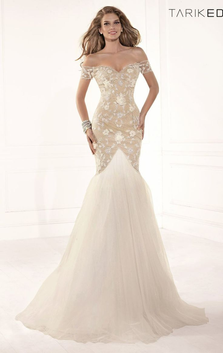Beautiful Mermaid Dress With A Puffy Tale And Slim Top Diamonds