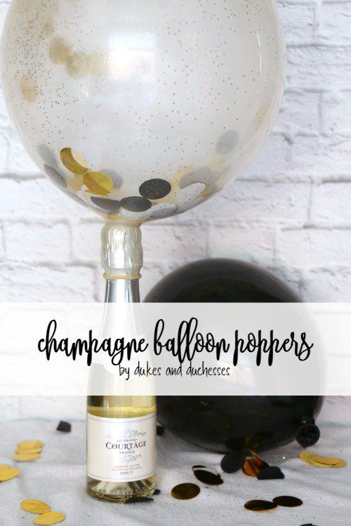Champagne Confetti Balloon Poppers New Year S Ideas Pinterest