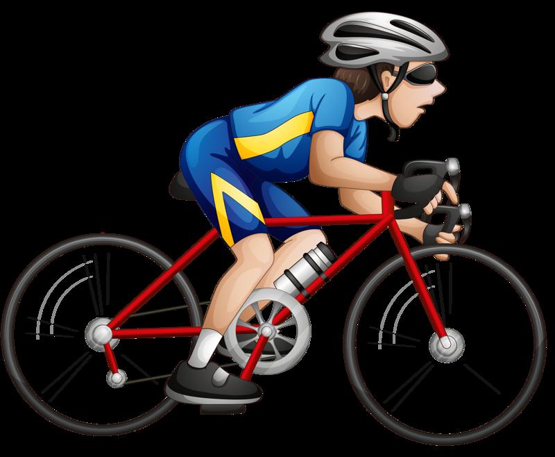 Картинки велосипедиста на белом фоне