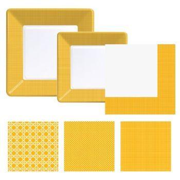yellow coordinates plates