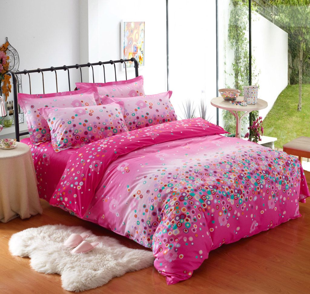 Pink bed sets for girls -