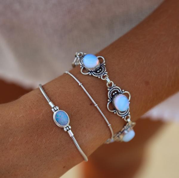 Pandora Moonstone Earrings: Rainbow Moonstone Bracelet