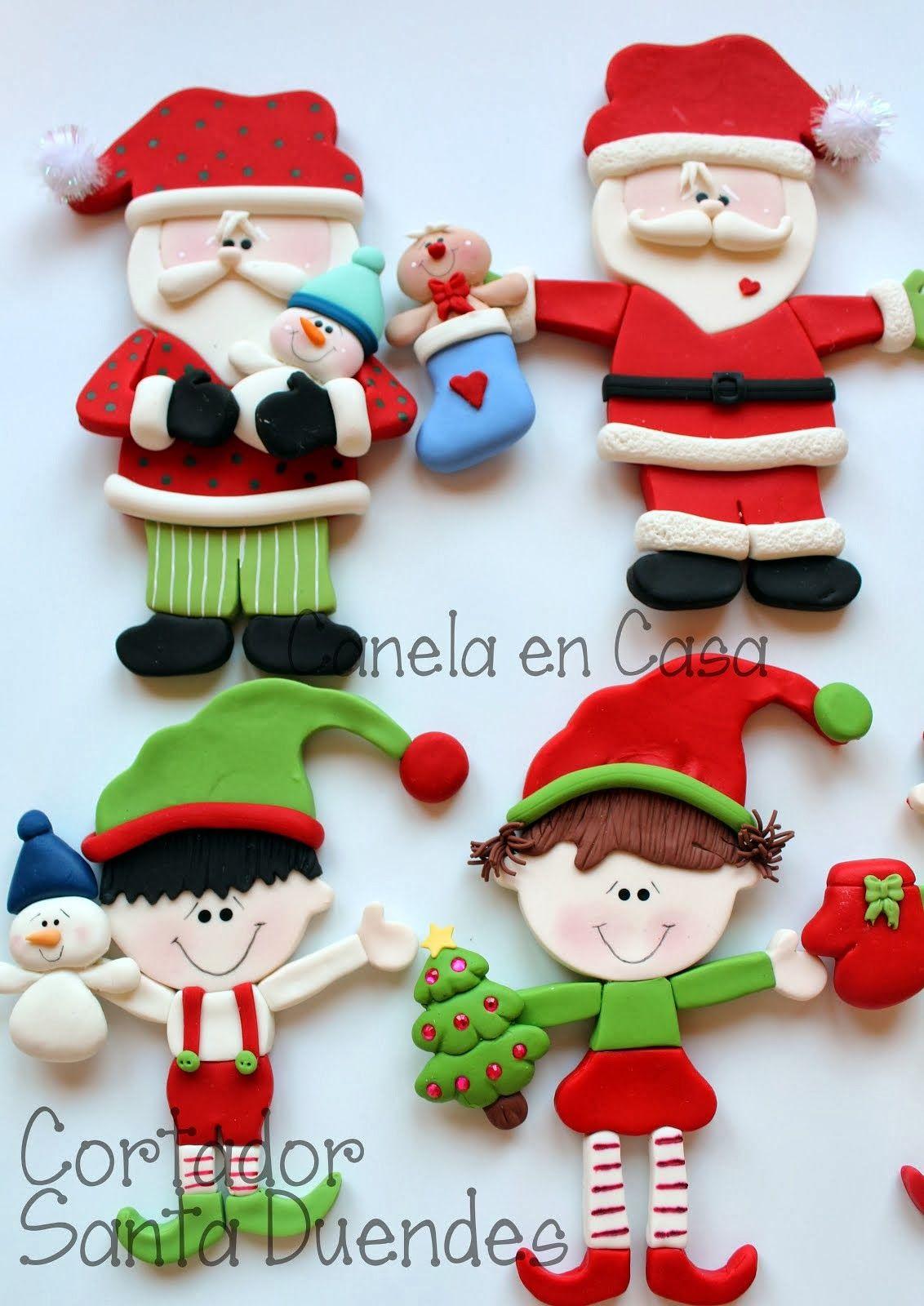Canela En Casa Tartas Galletas Y Modelado De Navidad Arcilla De Navidad Navidad De Arcilla Polimérica Manualidades