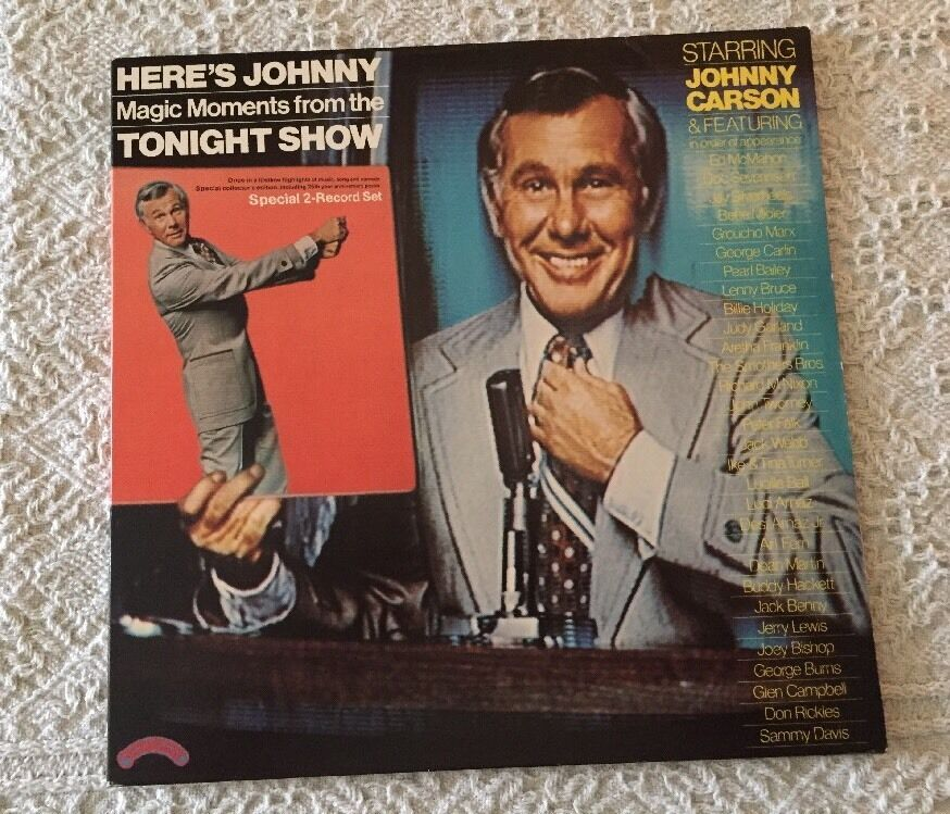 Johnny Carson 2 Album LP Record Here's Johnny. Magic