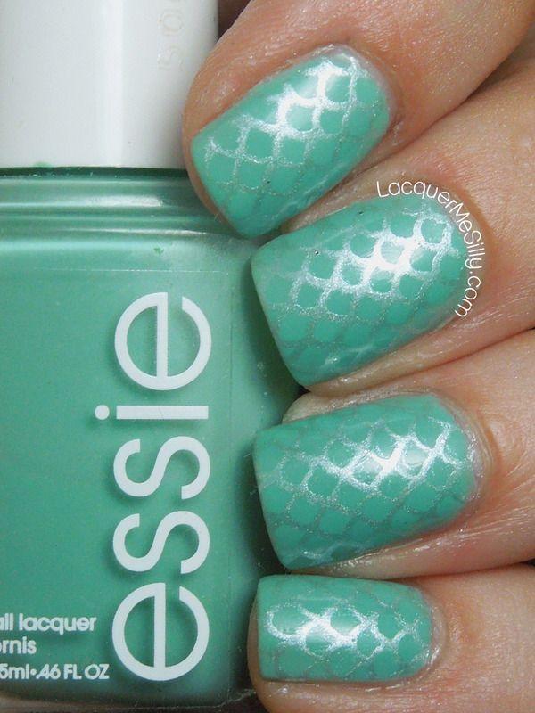 Mermaid Scales | Manos | Pinterest | Uñas hermosas, Diseños de uñas ...