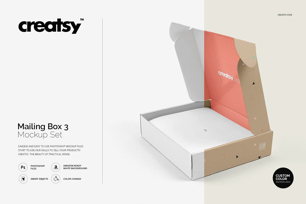 Download Mailing Box 3 Mockup Set Mockup Box Mockup Branding Mockups