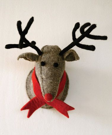 Another great find on #zulily! Gray Wool Reindeer Wall Décor #zulilyfinds