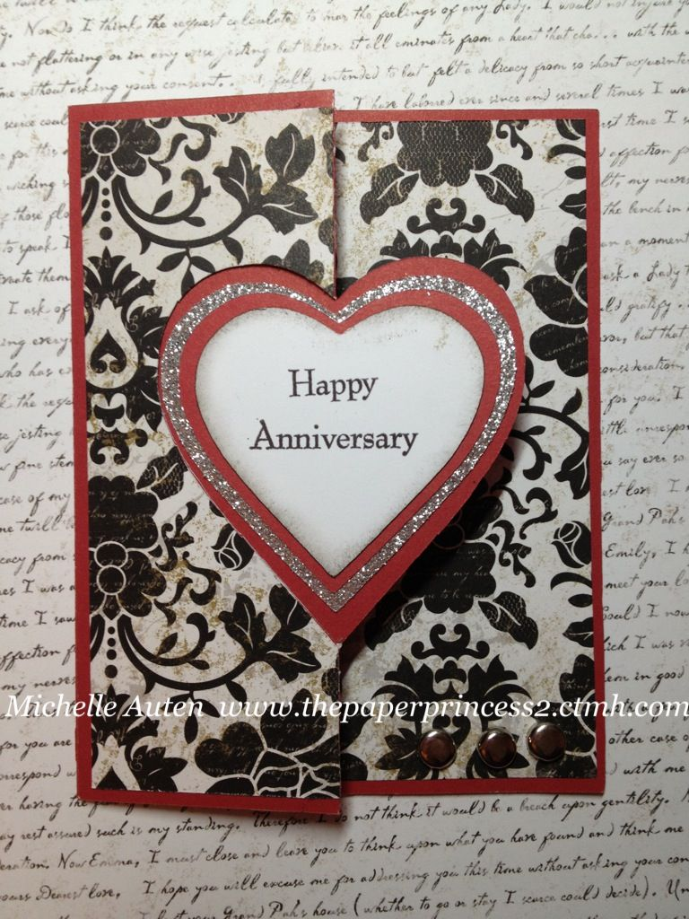 Pin By Michelle Auten On My Artwork Cricut Anniversary Card Anniversary Cards For Husband Wedding Cards Handmade