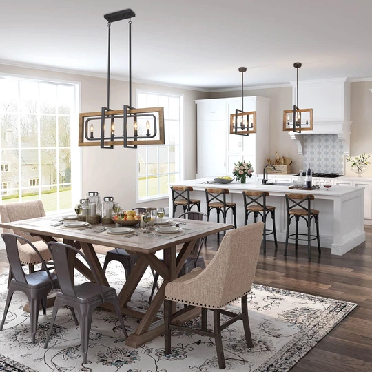 Farmhouse Dining Room Lighting, Modern Farmhouse Chandeliers For Dining Room
