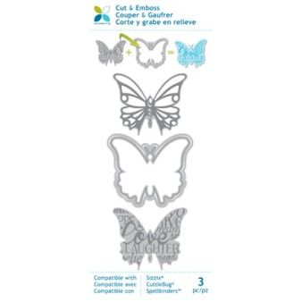 Beautiful Butterflies! Blitsy | Momenta Dies Cut, emboss or both! Momenta's Mix & Match Dies  These dies work w/ all die cutting machines, including Sizzix, Cuttlebug & Spellbinders. AND they're on SALE!
