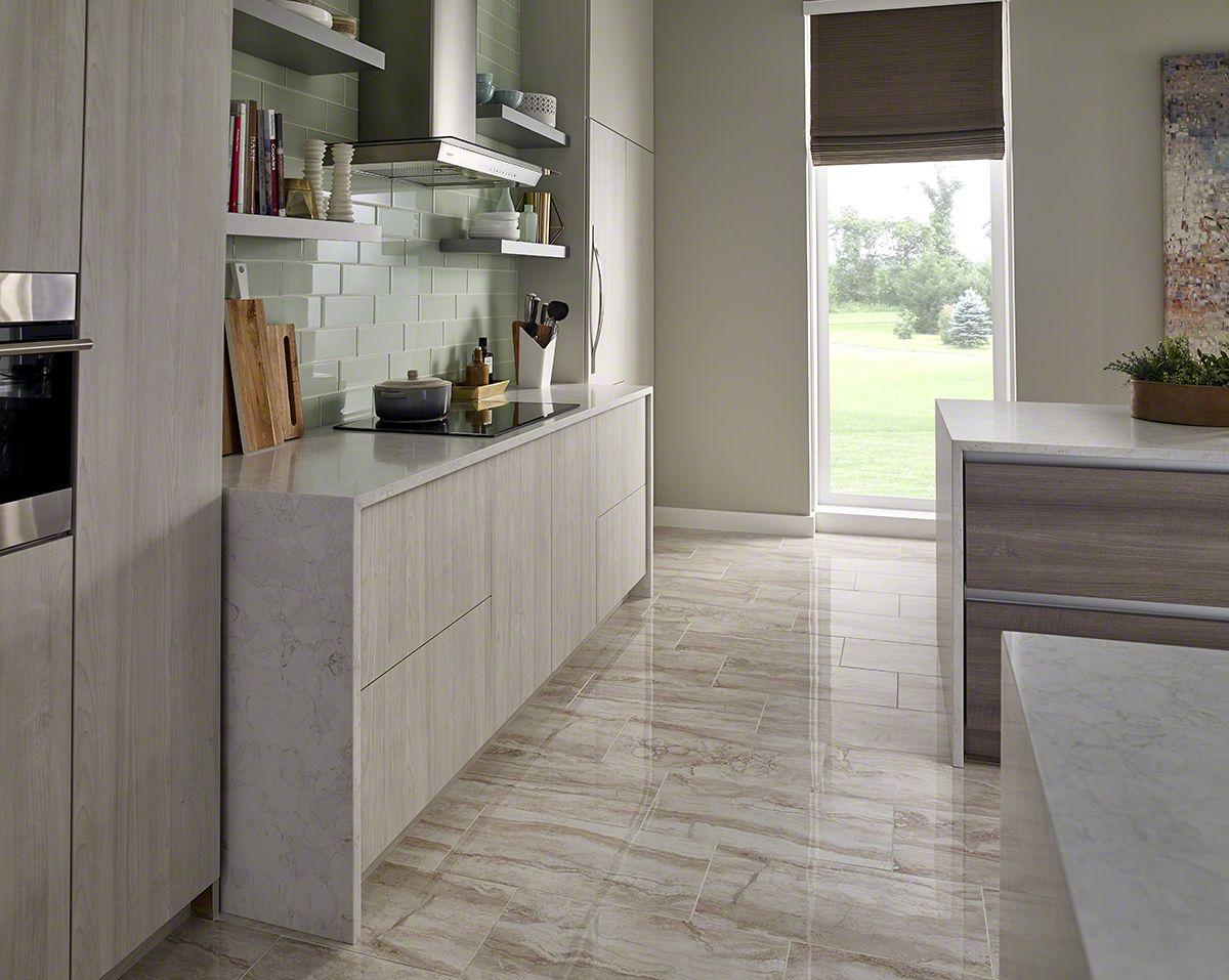 Marbella White Quartz Modern Kitchen Backsplash White Quartz