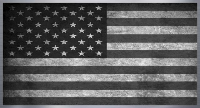 Classic Vintage Black American Flag Wallpaper Inspirational Quotes Wall Art Black American Flag