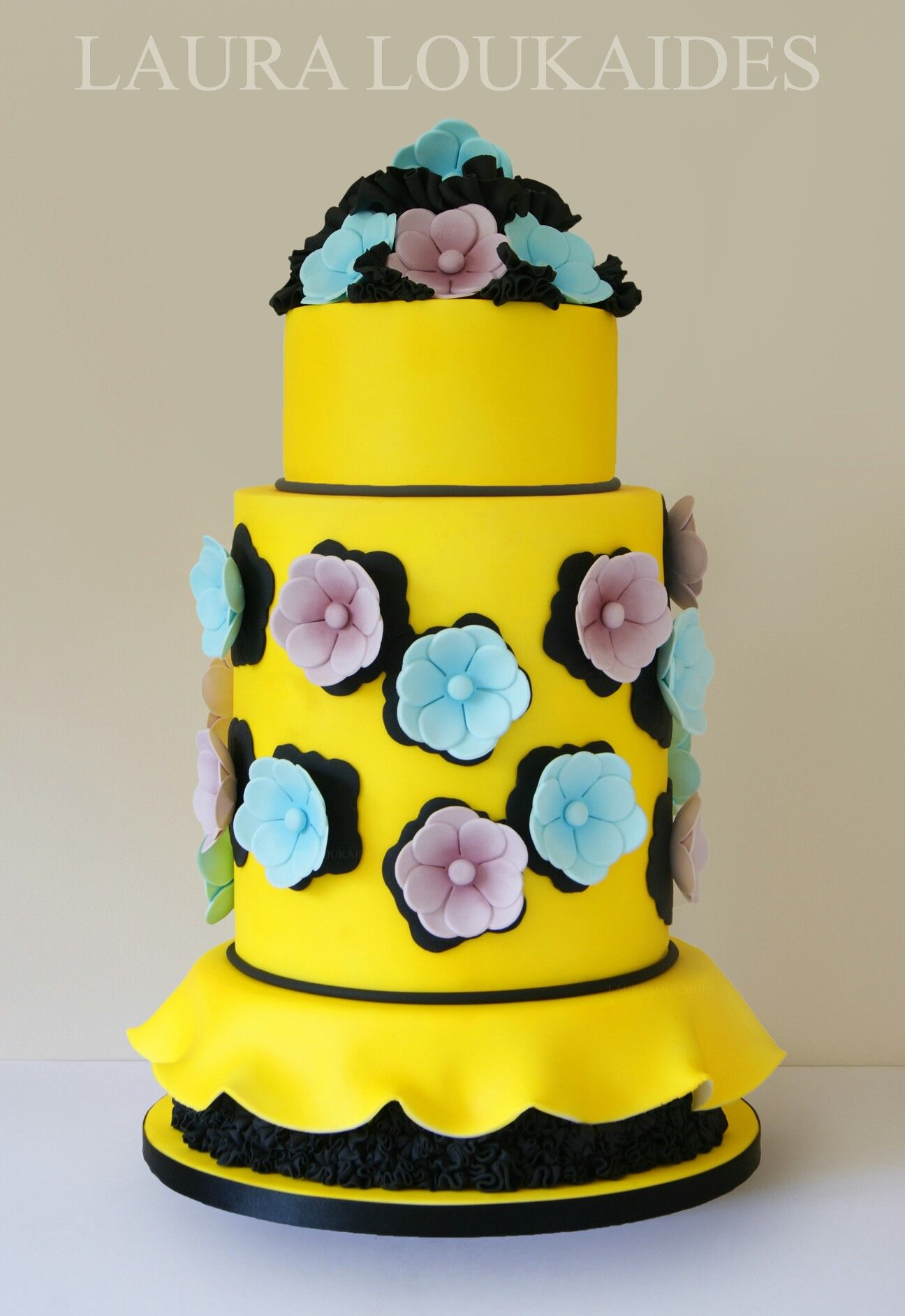Viktor & Rolf Inspired Cake By Laura Loukaides   Featured in Wedding Cakes & Sugar Flowers Magazine, Issue 28